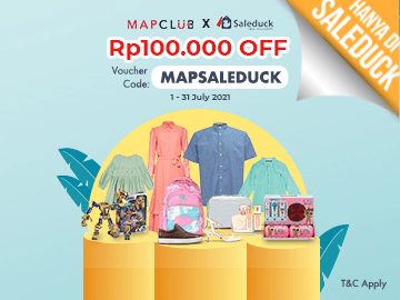 Aktifkan kode voucher MAPCLUB: MAPSALEDUCK diskon Rp 100.000 spesial!