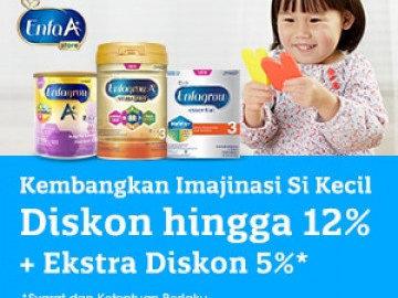 [Eksklusif] Kode voucher Enfagrow diskon Rp 100.000 susu formula anak