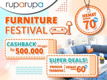 Kode promo Ruparupa Furnifest diskon Rp 120.000 beli perabotan apa saja!