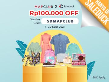 Kode voucher MAPCLUB [SDMAPCLUB] diskon Rp 100.000 untuk semua pengguna!