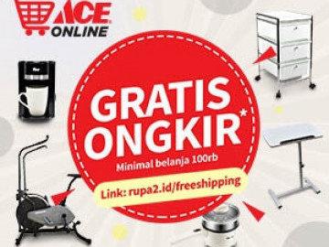 Nikmati promo ACE Online gratis ongkir belanja semua produk disini