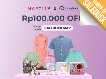 Pakai kode voucher MAPCLUB [SALEDUCKMAP] diskon Rp 100.000